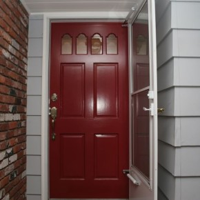 Lake Oswego exterior door finishing 001
