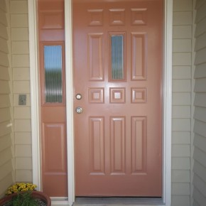 Lake Oswego exterior door finishing 002
