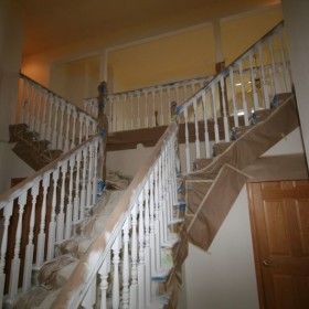 stairway painting project, Beaverton, OR 002