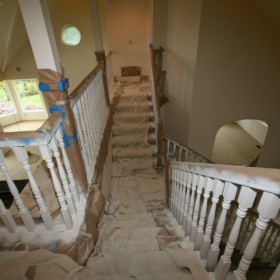 stairway painting project, Beaverton, OR 001